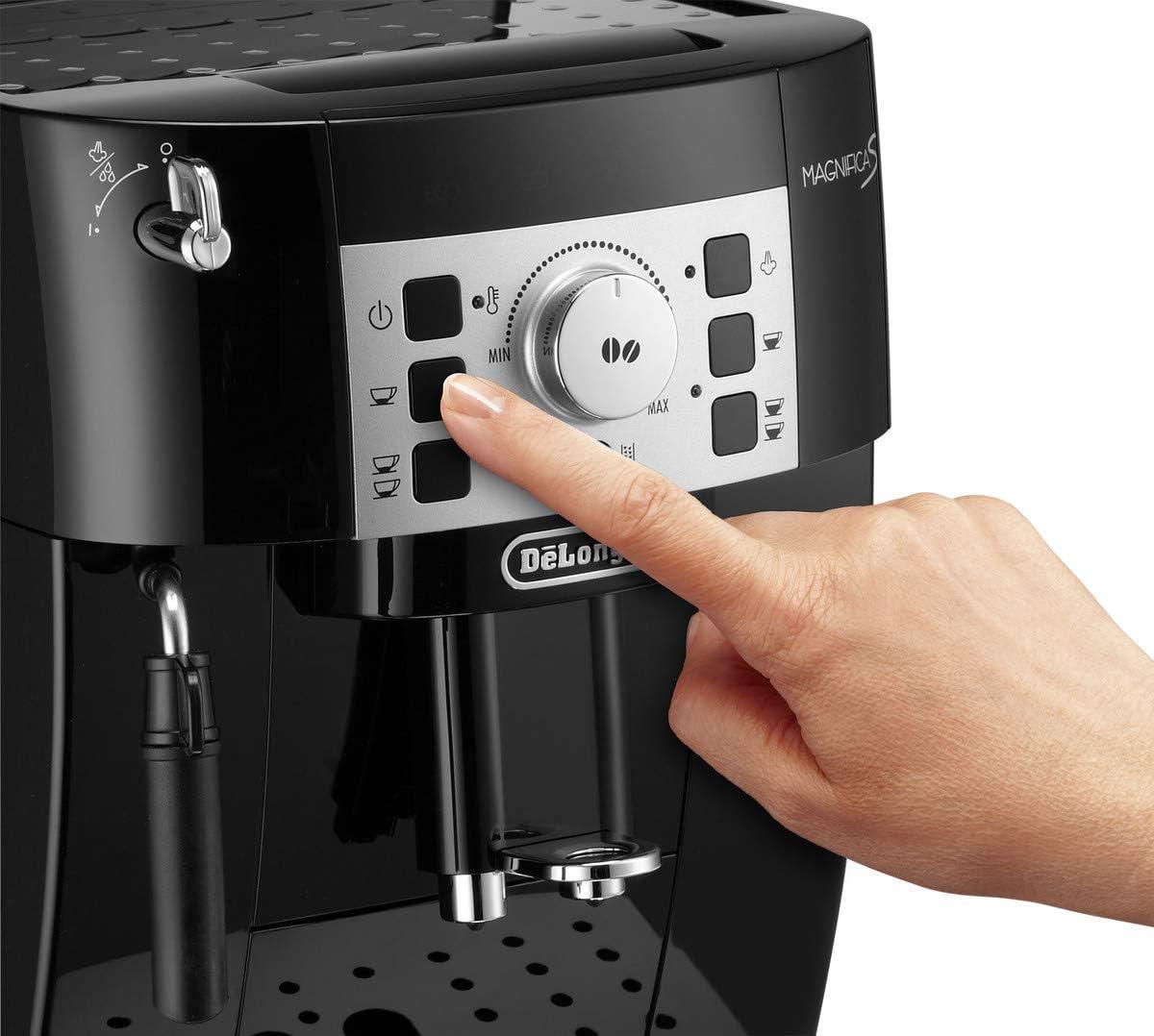 Delonghi Magnifica S - Cafetera Superautomática con 15 Bares de Presión, Cafetera para Espresso y Cappuccino, 13 Programas Ajustables, Sistema de Auto-limpieza, ECAM 22.110.B, Negra 35x24x43cm: Amazon.es: Hogar