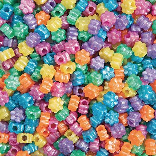 S&S Worldwide Flower Pony Beads 1/2-lb Bag (bag of ()