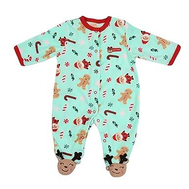 c4c4864d3903 Little Hand Baby Boys Christmas Romper Pyjamas Sleepsuit Santa Deer ...