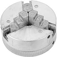 Torno Chuck Mandril de 3 Mordazas Portabrocas Z011 para Mini Torno de Metal,Accesorio de Abrazadera,Resistente al…