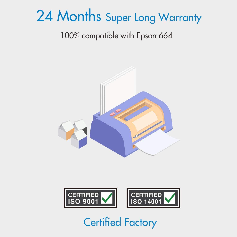 Cartridgeify 664 Compatible con Epson 664 Cartucho de Tinta, para ...