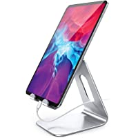Lamicall Tablet Stand, Adjustable Tablet Holder Dock Compatible with iPad 2019 Pro 9.7/11/10.5, Air 4 3 2, Mini 5 4 3 2…