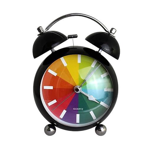 xmdz Twin Bell Reloj despertador alto Silencioso de escritorio ...