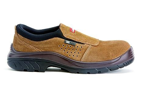 Bellota Non Metal 7227 S1P SRC- Zapatos sin Cordones, Color marrón, Talla 42: Amazon.es: Bricolaje y herramientas
