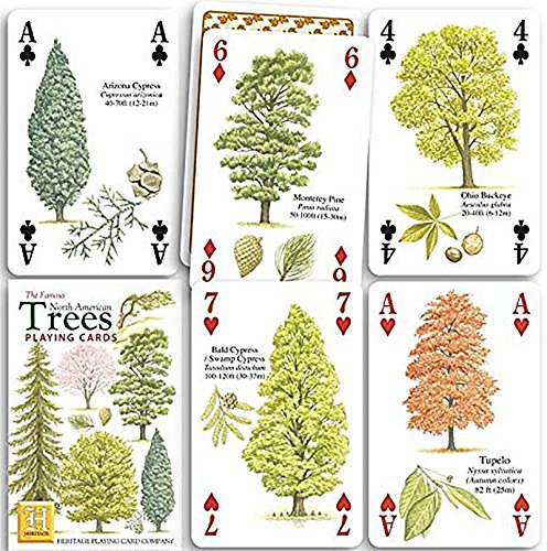 North American Trees Playing Cards by Heritage Playing Cards