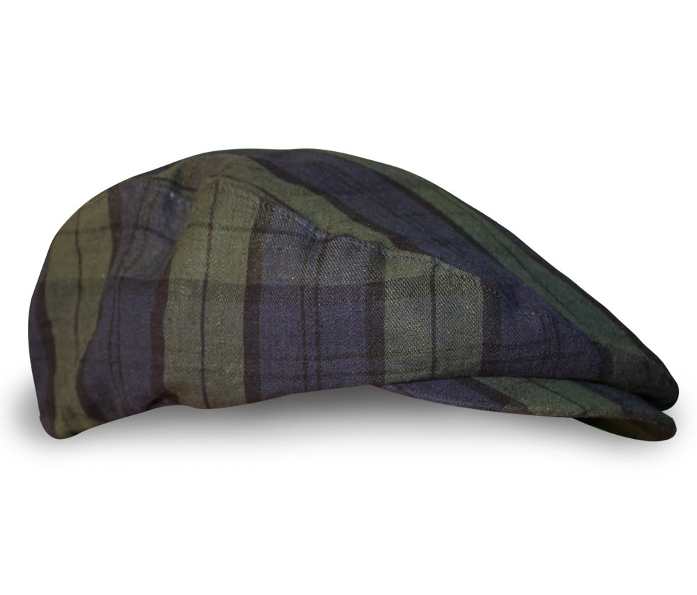 Plaid Flat Golf Cap: 'Par 5' - Black Watch - Ladies by Golf Knickers