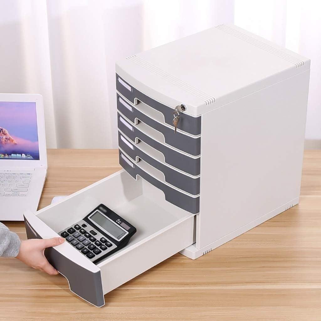 ファイルキャビネット 引き出しデータ内閣ストレージボックス文具ケースオフィスレシートマルチレイヤグレー高速階層的分類プラスチック オフィス用品 (Size : 5-layers)