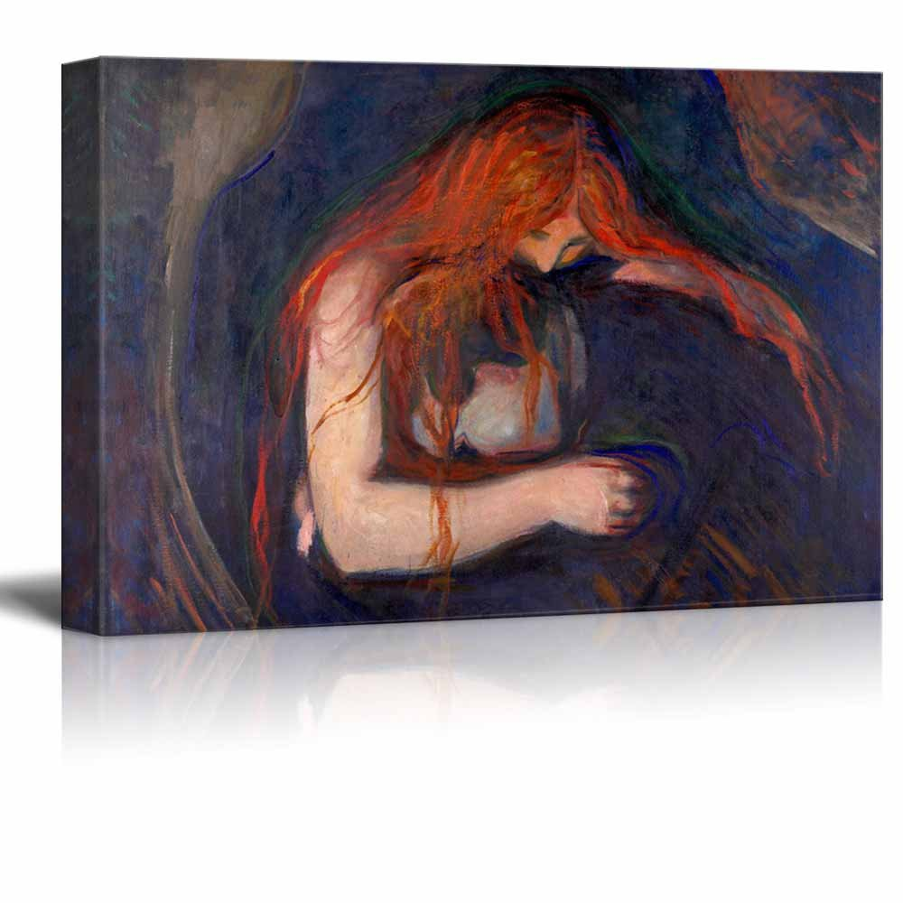 Vampire (Love And Pain) by Edvard Munch - Canvas Print