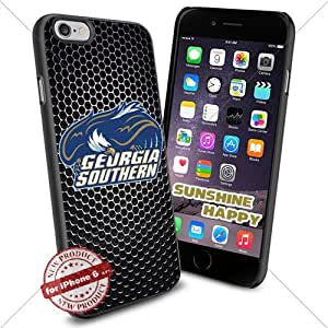 Georgia Southern Eagles, Football NCAA Sunshine#2639 Cool iPhone 6 - 4.7 Inch Smartphone Case Cover Collector iphone TPU Rubber Case Black