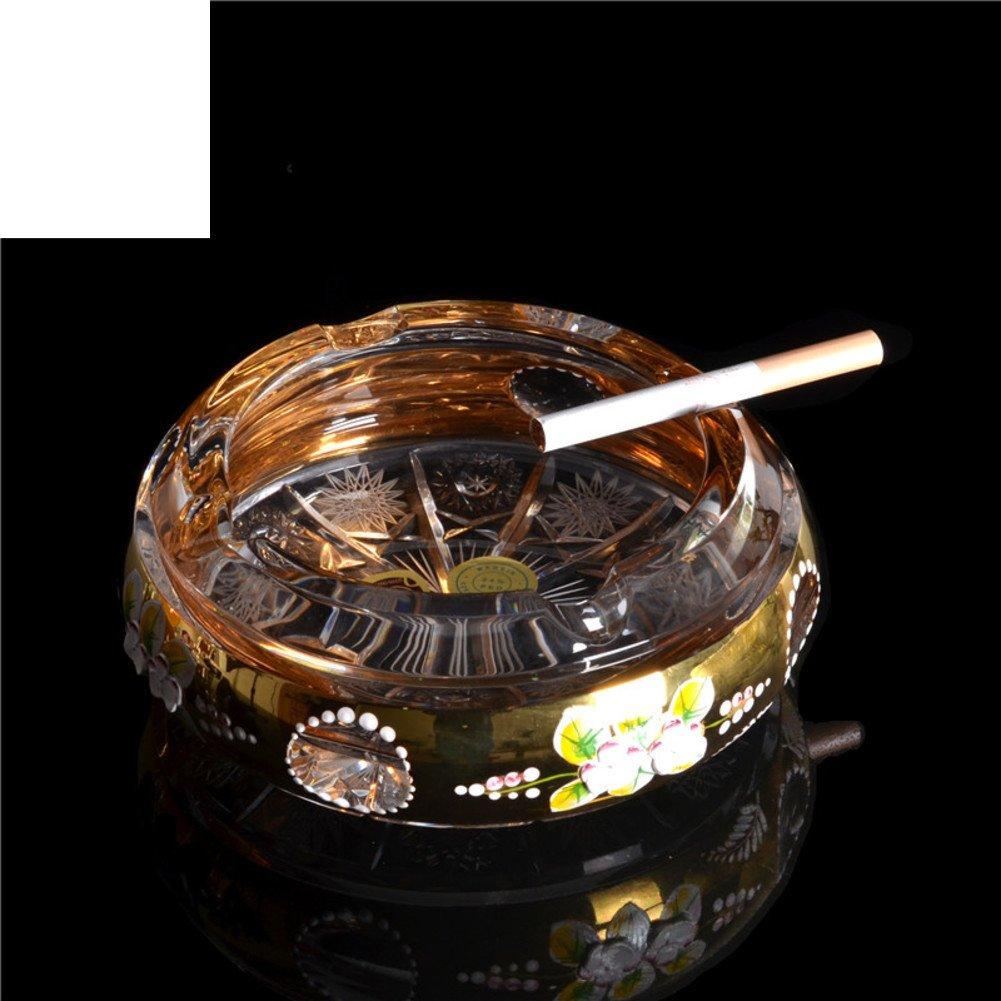 Wangs fashion crystal glass ashtray Innovative household living room ashtrays-A