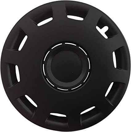 Autoteppich Stylers Farbe Größe Wählbar 15 Zoll Radkappen Granit Schwarz Passend Für Fast Alle Gängingen Fahrzeuge Universal Auto