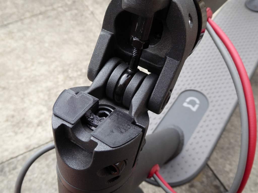 Rosso LED Della Modifica Parts Per Electric Scooter Accessori gooma elettrica stampa 3D Gomma Ammortizzatore Vibrazioni per Xiaomi Monopattino Elettrico Mijia M365 // Pro M187 Accessorio