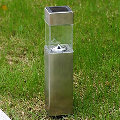 Solar Garden Lights Outdoor Pathway Decorative Light Path Bollard Stakes Decorations Home Decor 2018 Bright 10 Lumen Stainless Steel Landscape Lighting for Walkway Driveway Yard