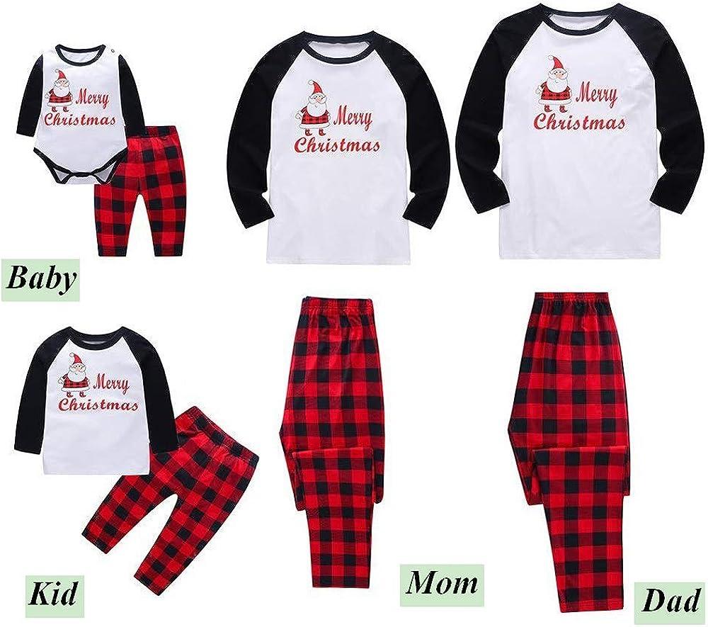 Kehen Family Christmas Pajamas Set Ugly Santa Claus Cotton Sleepwear Nightwear Parent Child Family Equipment Matching