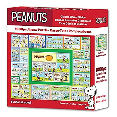 Peanuts Classic Comic Strip Game On Sports Comic Collage 1000 Piece Jigsaw Puzzle - 26.75 X 19.25 Inches Made in USA.: Toys & Games