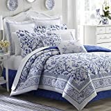 Laura Ashley 211389 Charlotte Comforter Set, Blue, Twin