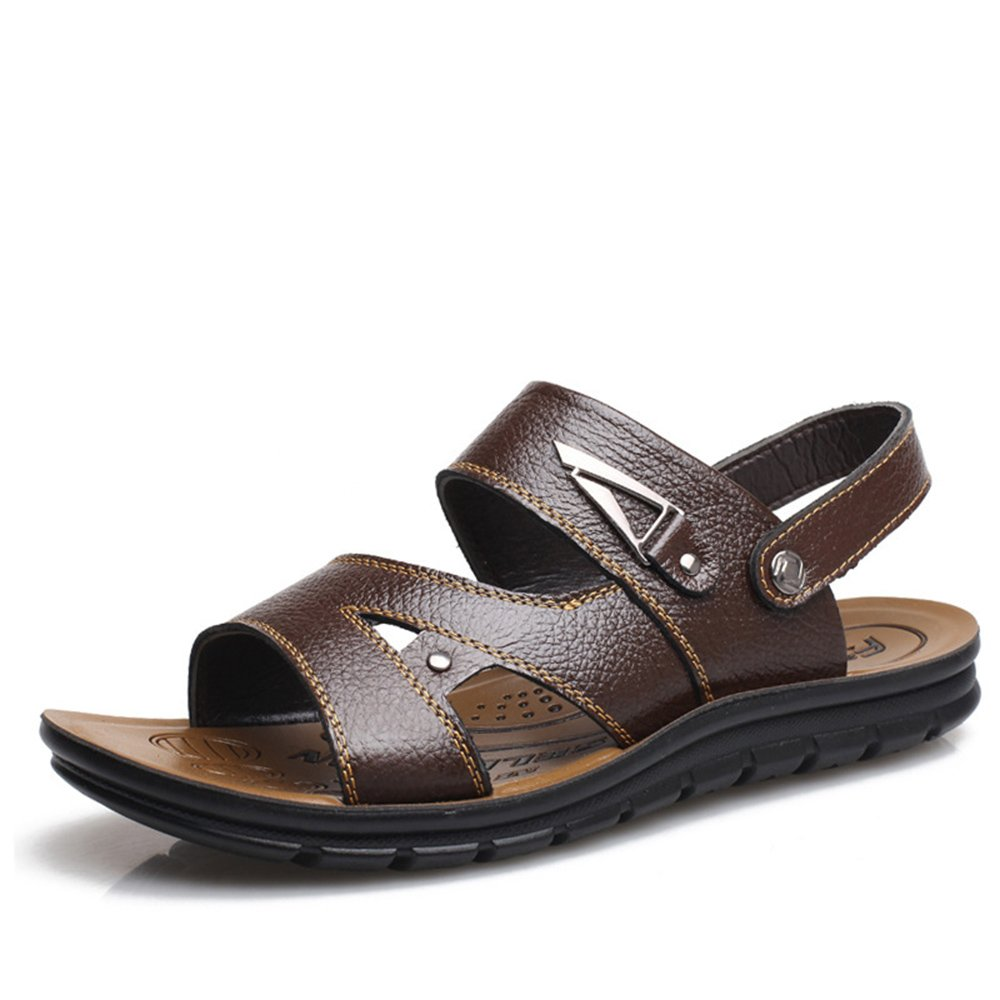 Sandalias de los Zapatos cómodos Ocasionales del Dedo del pie de los Hombres convenientes para los Deportes de Ocio Interiores y al Aire Libre 42 2/3 EU|Brown