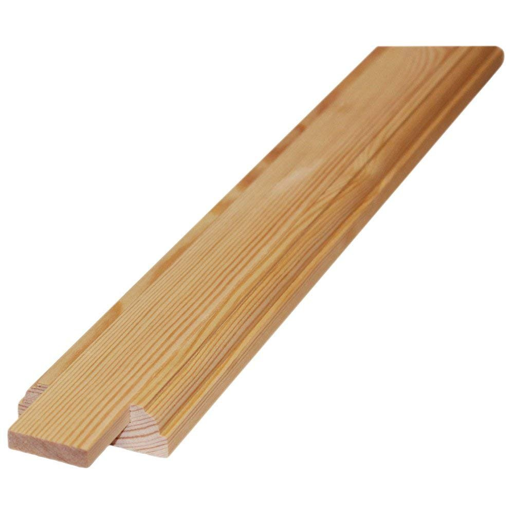 Trade Stair Parts 5060473144569 Baserail - Solid Pine Length (3.0m - 41mm Infill Fillet Groove)