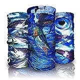 Eytan 9 Pcs Fishing Face Shield Multi Purpose Headwear Wrap Wear As Tube Bandana, Seamless Magic Headband, Sports Neck Gaiter,Uv resistance Fish Face Mask - Good Sun Protection