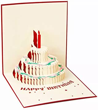 Fun Unique Birthday Card For Her Handmade Happy Birthday 3D Pop up Card