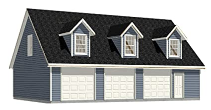 Garage Plans: Three Car Garage With Loft Apartment (rafter ...