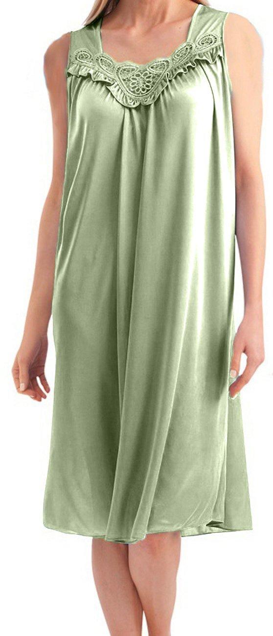 Women's Satin Silk Sleeveless Lingerie Nightdress by EZI Nightgowns5