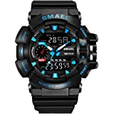 Sports Watches for Men Dual Display Analog Digital LED Electronic Quartz Relojes Hombre