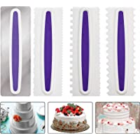 OFNMY 4 stks Cake Scrapers Cake Icing Smoother Cake Smoother Cream Scrapers Decorating Edge DIY Tool Icing…