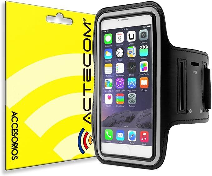 actecom® Funda Cinta Brazalete Neopreno MOVIL Smartphone hasta 5,5 ...