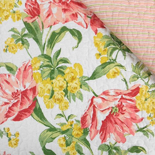 Laura Ashley Pink Yellow Floral Sherborne Set of Two Standard (Laura Floral Pillow Shams)