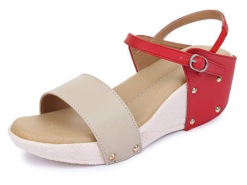 688f738cf81 TRASE Flora Heel   Wedge Sandal for Women Dailywear - 2 Inch Heel ...