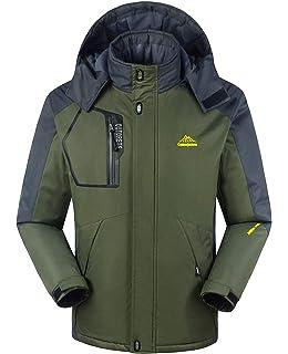 91c8c00642 TBMPOY Men s Waterproof Winter Ski Jacket Outdoor Mountain Windproof Fleece  Coat