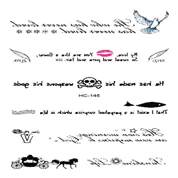 Pegatinas pequeñas y frescas para tatuajes Pegatinas inglesas para ...