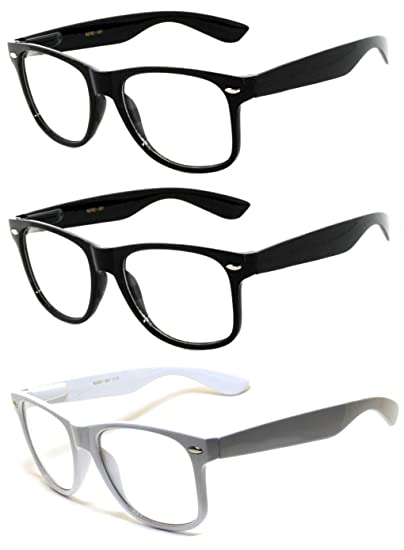 Amazon.com: 3 Pairs Classic Vintage Sunglasses 2 BLACK and 1 WHITE ...