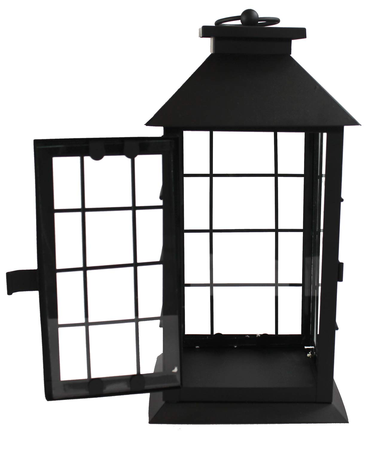 Seraphic Black Metal Lantern with Flickering Flameless LED Candle, Case of 6 by Seraphic (Image #5)