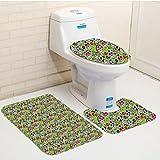 Keshia Dwete three-piece toilet seat pad customSkulls Flowers And Skulls Day Catholic Ceremony Artistic Design Art