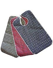 Jinxuny 3Pack slabbetjes voor volwassenen, wasbaar eetslabbetje met kruimelvanger schort kleding maaltijd beschermer voor ouderen