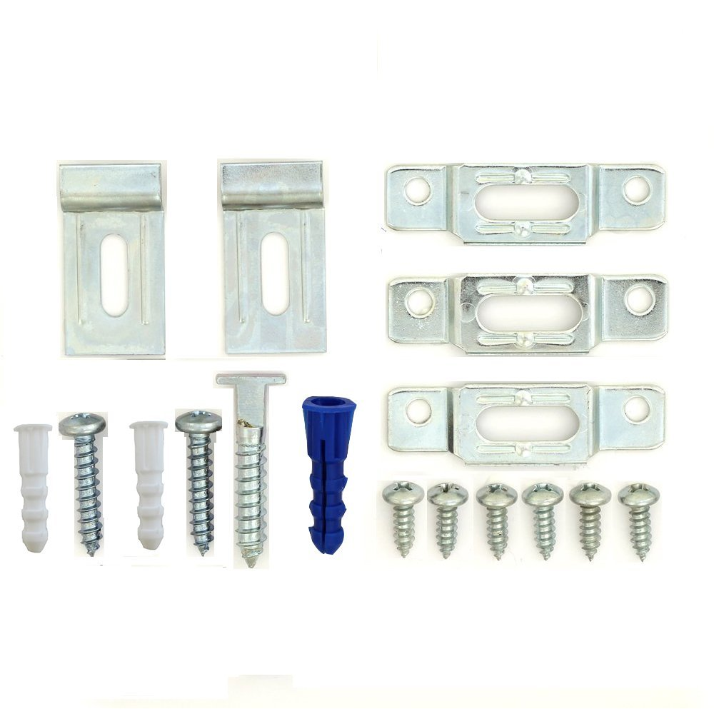 T-Lock security locking hardware set for (25) wood or aluminum picture frames - FREE WRENCH