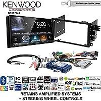 Volunteer Audio Kenwood DDX9704S Double Din Radio Install Kit with Apple Carplay Android Auto Fits 2003-2005 Chevrolet Blazer, 2003-2006 Silverado, Suburban