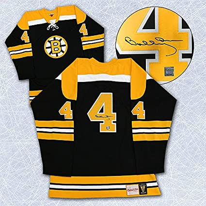 8ab1e47ae Image Unavailable. Image not available for. Color  Bobby Orr Boston Bruins Autographed  Mitchell   Ness Jersey  ...