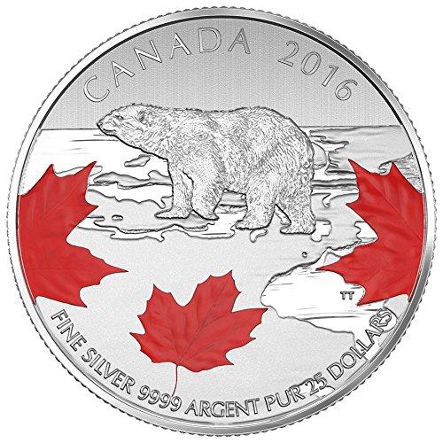 CA 2016 $25 for $25 Canada 1/4 oz Fine Silver Coin True North Mint State