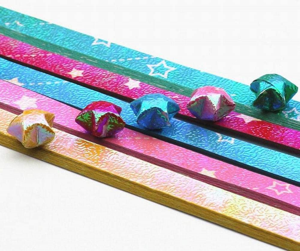 1080 Sheets Colorful Origami Star Papers DIY Lucky Star Paper Strips #23