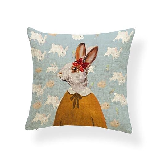 psdwets conejo de Pascua decoración del hogar fundas de ...