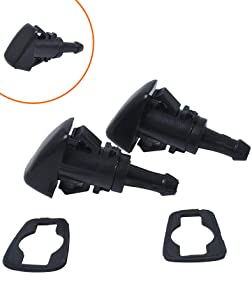 Exerock Windshield Nozzle 5113049AA Perfect Replacement Single Hole Windshield Washer Nozzle Wiper Spray Kit fit for PT Cruiser Dodge Avenger Journey Jeep Compass 5113049AA
