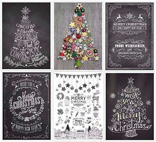 Set 4 da klimaneutral gedruckt umweltfreundlich : 24 Motive ein bunter Mix aus Nostalgie-Karten Weihnachtskarten Winter-Landschaften sowie lustigen Weihnachtspostkarten von EDITION COLIBRI /©