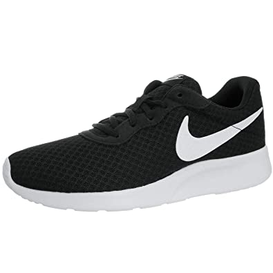 Amazon.com | Nike Womens Tanjun Running Sneaker Black/White 9 | Shoes