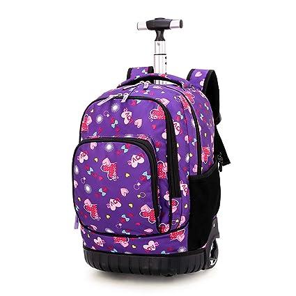 JL-Q Estudiante de Escuela Secundaria Trolley Bolsa niño Viaje Mochila Escuela Primaria Bolsa de