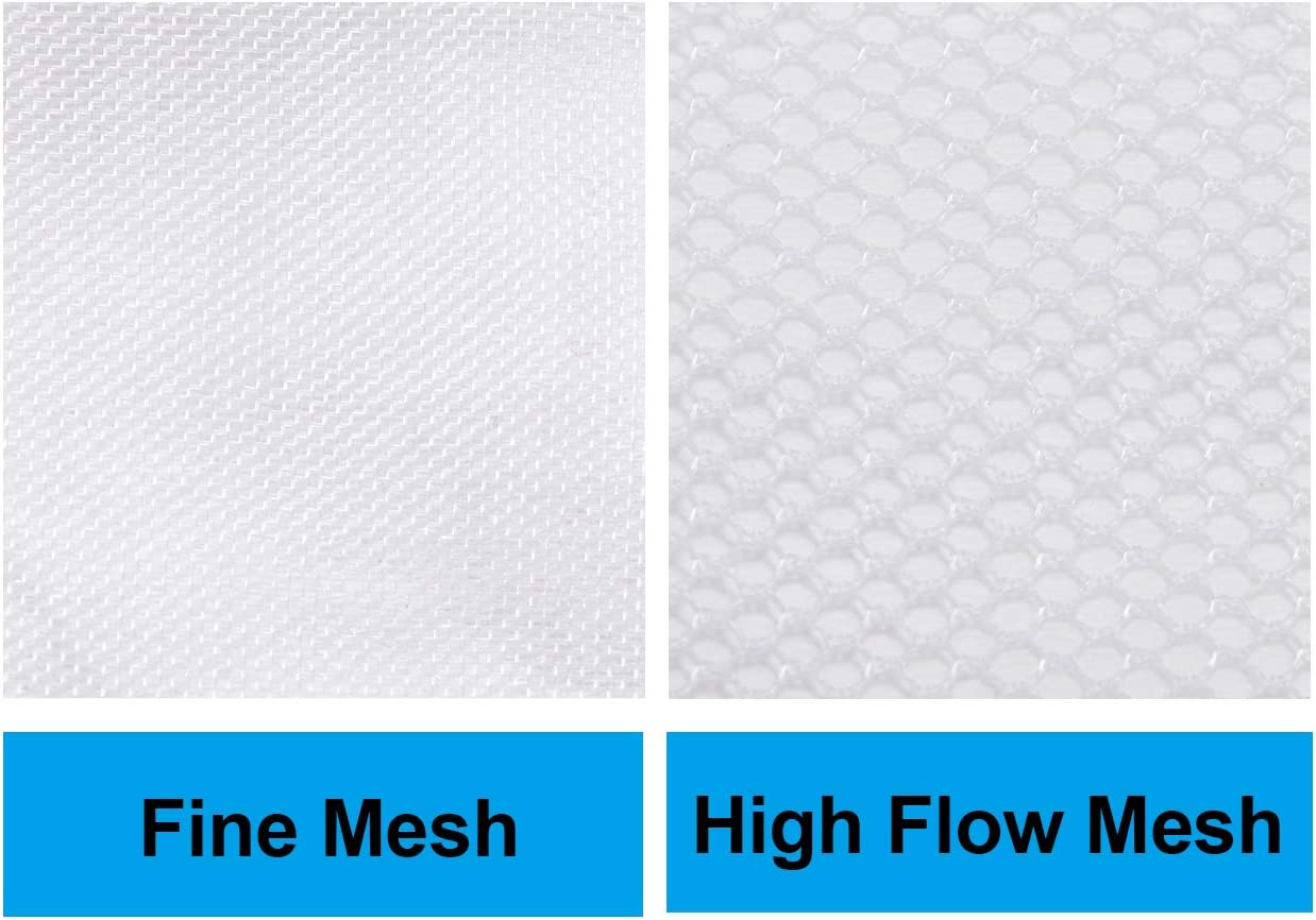FunLavie Aquarium Filter Media Bag Nylon Mesh Bag Net Bag Zipper Fine mesh,10 Pcs