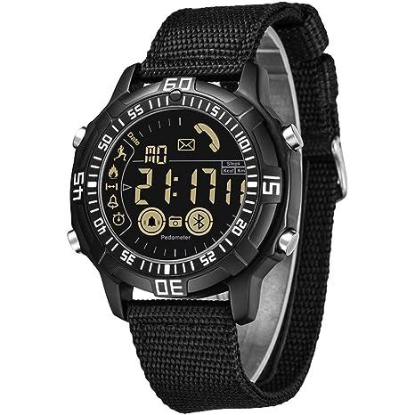 Watches Smartwatch Podómetro 50m Impermeable Swim Diving Reloj Masculino LED Digital Fitness Calorie Deportes Al Aire