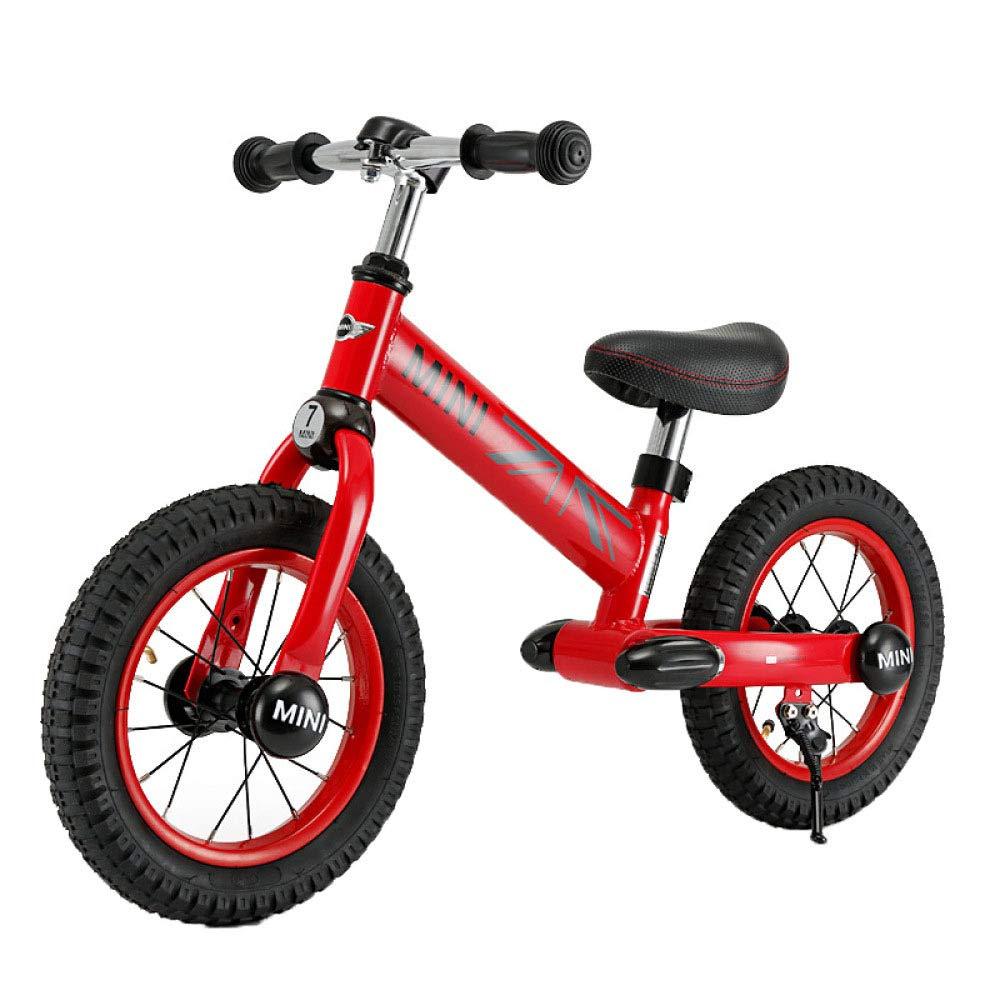 FAHBN Bici per Bambini Bici per Bambini Carrozzelle per Bambini Yo-Yo Scorrevoli Senza Pedali Biciclette,Red-12inch